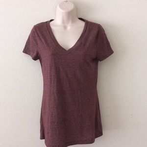 Mossimo burgundy maroon v-neck T-shirt small